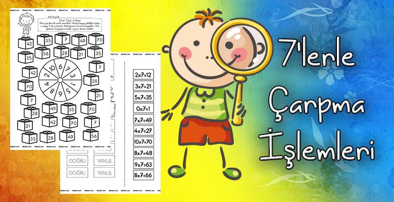 7'lerle Çarpma Etkinlik Sayfaları
