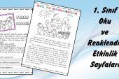 1. Sınıf Oku ve Renklendir Çalışma Sayfası -2-