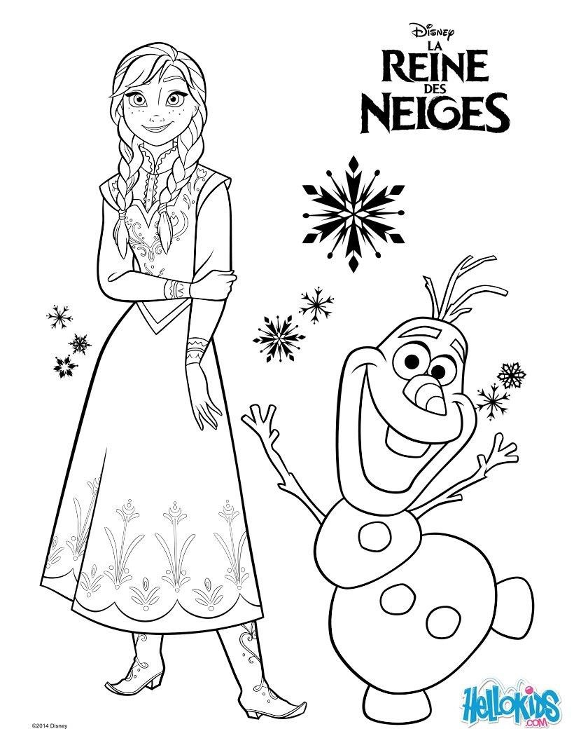 Frozen-Anna-And-Olaf-Coloring-Page_Tvk