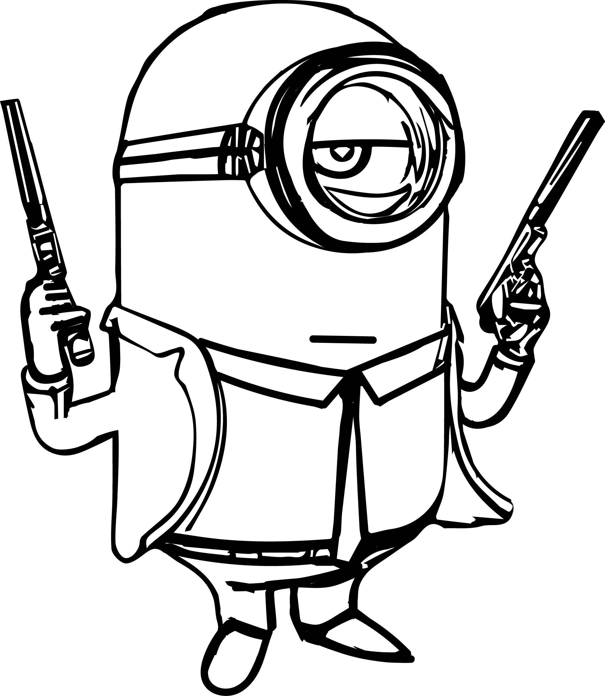 Minion-Gun-Coloring-Page