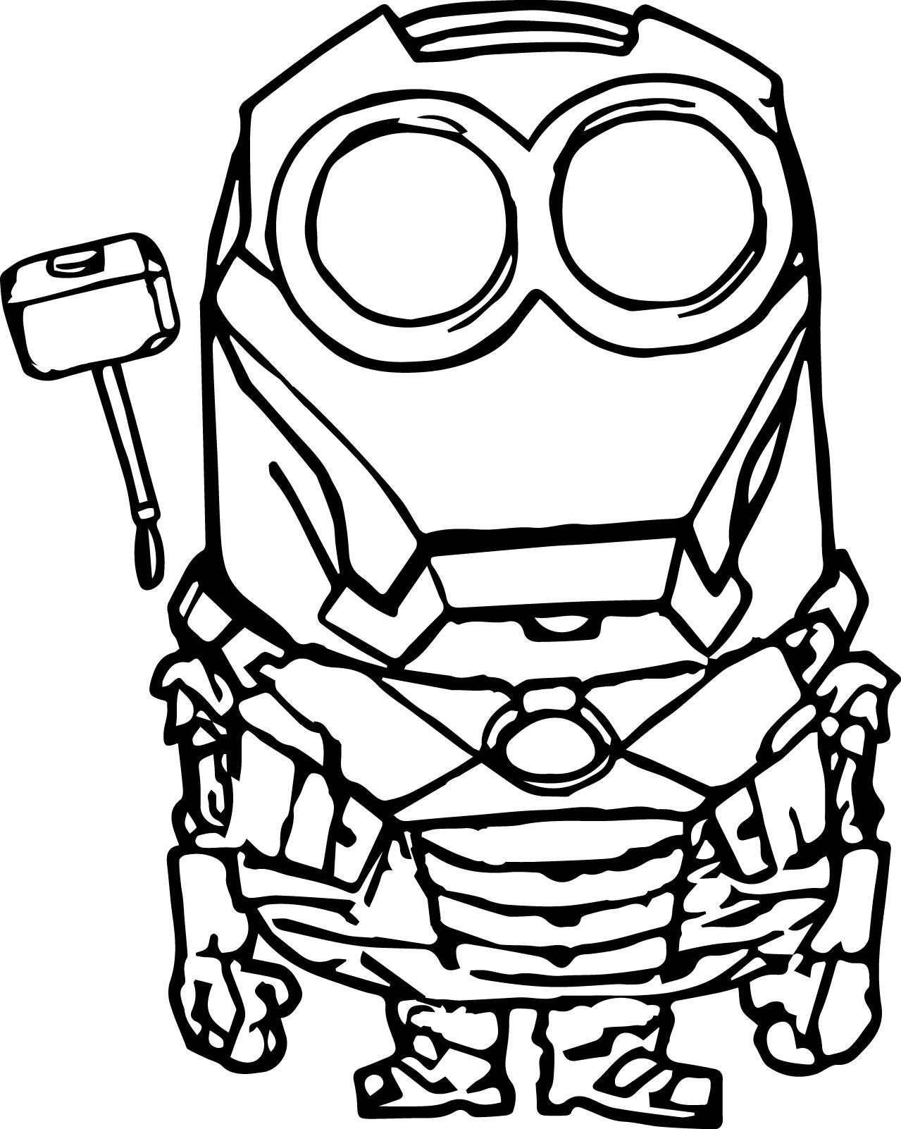 Robot-Minion-Coloring-Page
