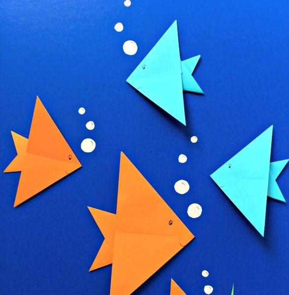 Basit Videolu Origami Etkinlikleri 4 Balik Yapimi Sinif