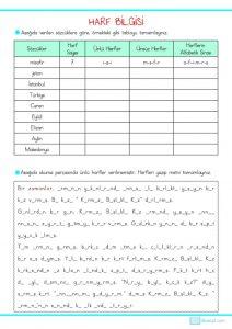3 Sinif Harf Bilgisi Calisma Sayfasi 3 Sinif Ogretmenleri