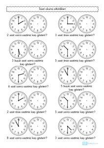 Tam Ve Yarim Saatleri Okuma Etkinligi 2 Sinif Ogretmenleri