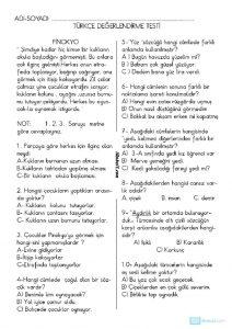 thumbnail of TÜRKÇE DEĞERLENDİRME TESTİ 3