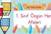 1. Sınıf Dik Temel Harf Afişleri
