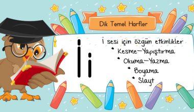 2017 2018 Dik Temel Harfler I Sesi Harf Boyama Etkinlik Sayfası