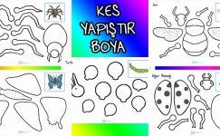 Boya-Kes-Yapıştır Kendi Böceğini Kendin Yap