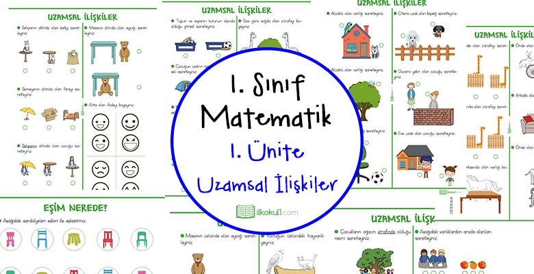 1. Sınıf Matematik Uzamsal İlişkiler Ünitesi
