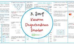 3. Sınıflar Kazanım Değerlendirme Sınavı
