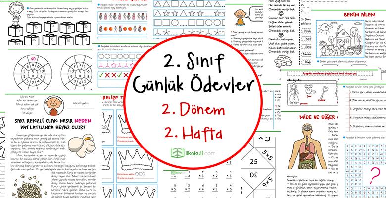 2018 2019 2 Sinif Gunluk Odevler 2 Donem 2 Hafta Sinif
