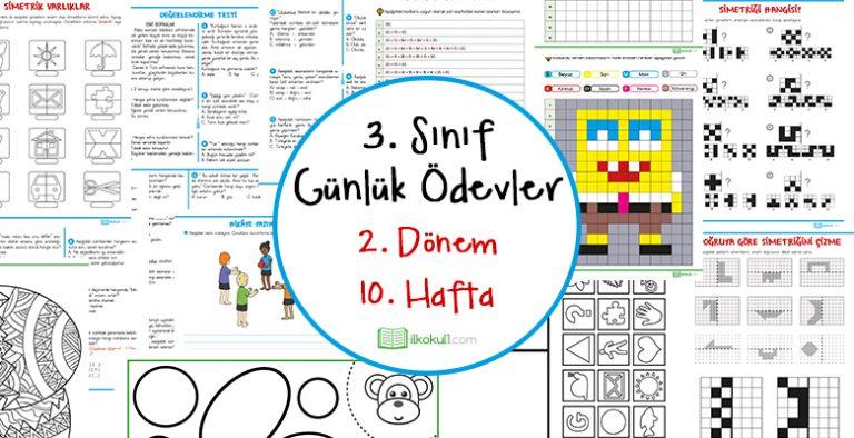 2018 2019 3 Sinif Gunluk Odevler 2 Donem 10 Hafta Sinif