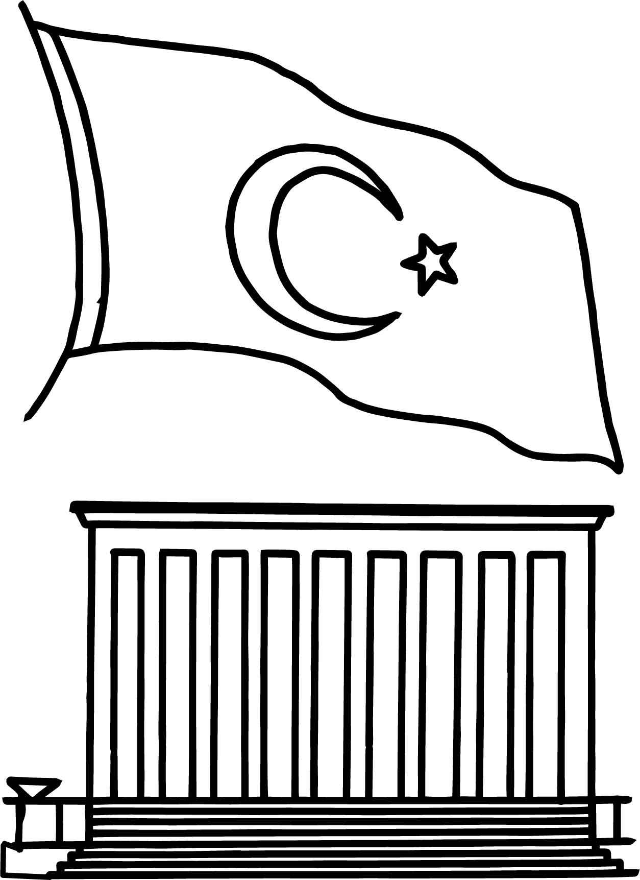 Cumhuriyet Bayrami Boyamasayfasi 17 Sinif Ogretmenleri Icin