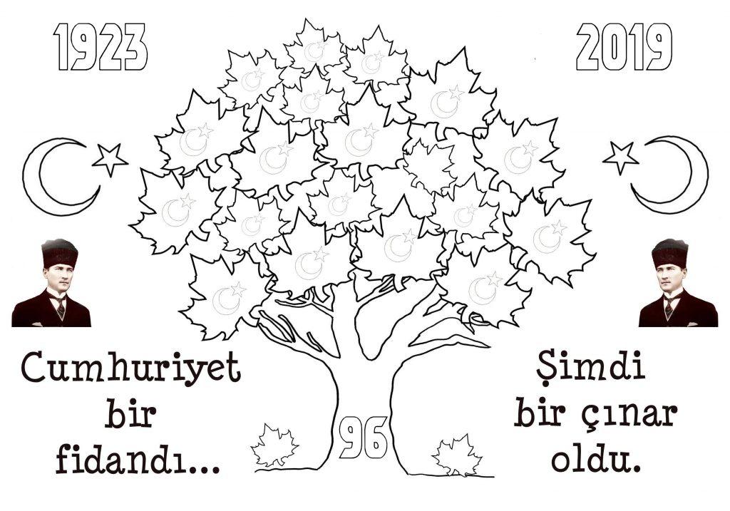 2019 Cumhuriyet Bayrami Boyama Sayfalari Sinif Ogretmenleri Icin