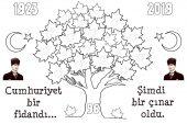 2019 Cumhuriyet Bayramı Boyama Sayfaları