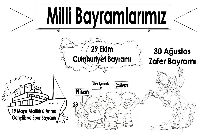 Cumhuriyet Bayrami Boyamasayfasi 26 Sinif Ogretmenleri Icin