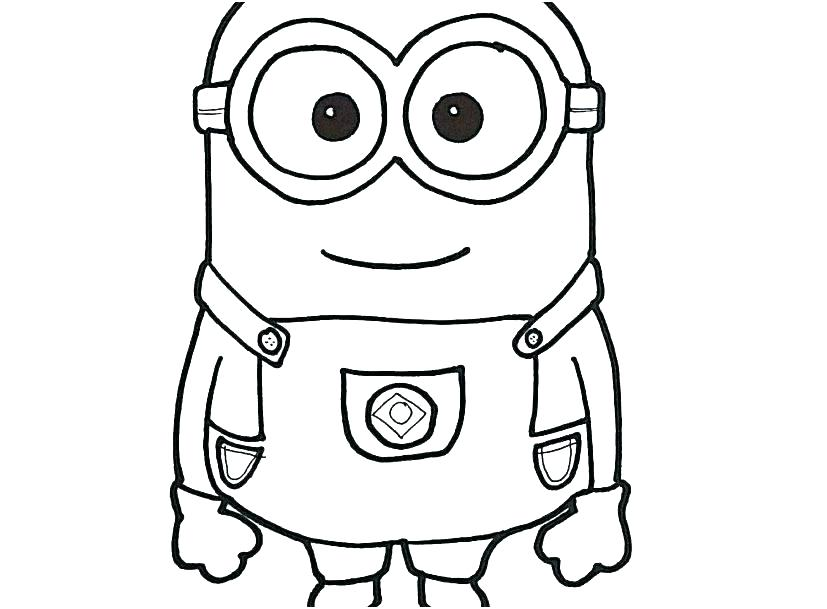 Minion Coloring Pages Bob | Free Coloring Pages - Coloring Home | 609x827