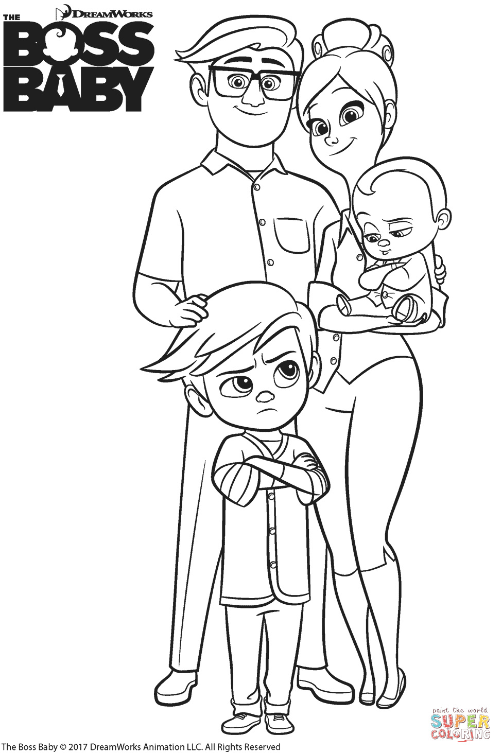 Templeton Family Coloring Page Creative The Boss Baby Coloring