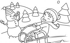Kış Mevsimi Boyama Sayfaları