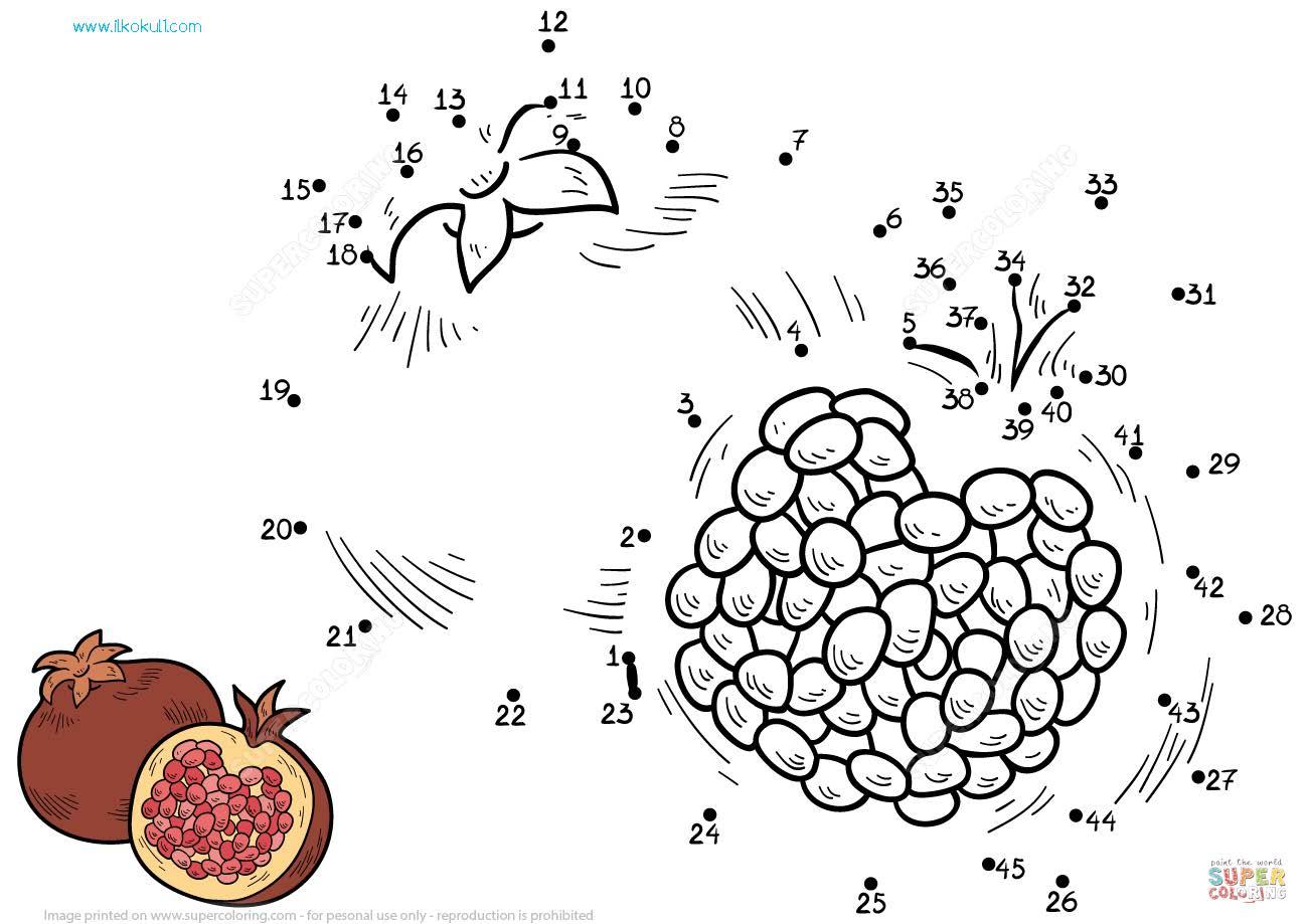Meyveler Nokta Birlestir Ve Boya Calismalari Sinif Ogretmenleri