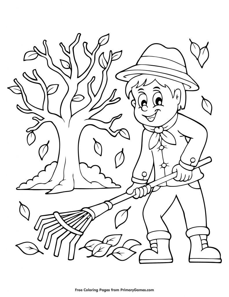 Sonbahar Boyama Sayfa 80