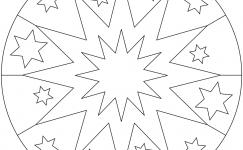 Basit Mandala Boyama Sayfalaları