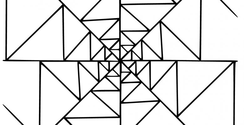 Geometrik Mandala Boyama Sayfaları