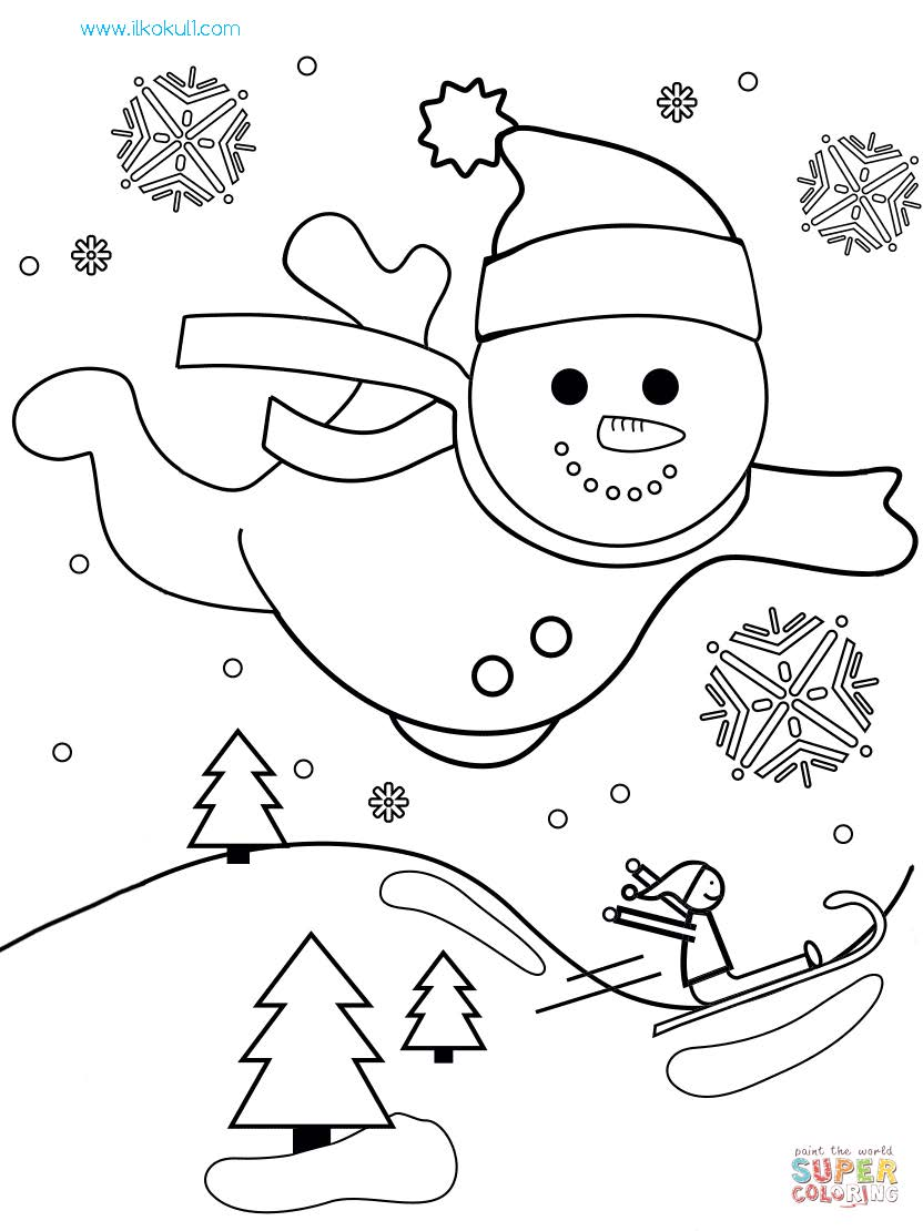 Kardan Adam Boyama Sayfasi 15 Sinif Ogretmenleri Icin Ucretsiz