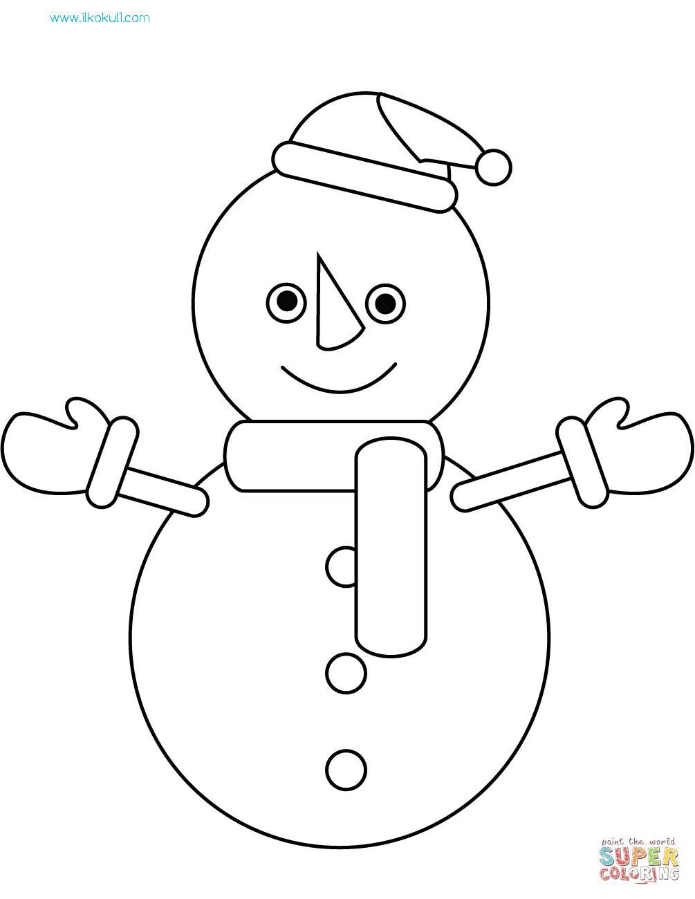 Kardan Adam Boyama Sayfasi 6 Sinif Ogretmenleri Icin Ucretsiz