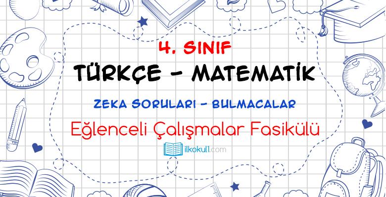 4. Sınıf Eğlenceli Çalışmalar Fasikülü 18
