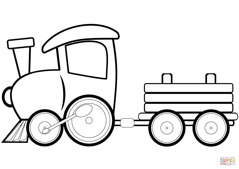 Tren Vagonu Boyama Sayfalari