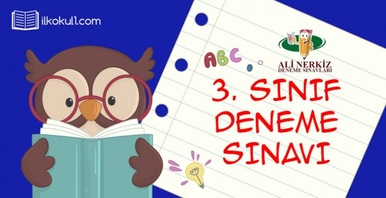3. SINIF 1. DÖNEM 3. DENEME SINAVI (ANDS3 KDS3)