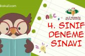 4. SINIF 1. DÖNEM 1. DENEME SINAVI (KDS1)