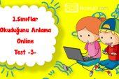 1. Sınıf Okuduğunu Anlama Online Test -3-
