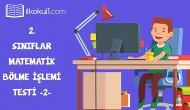 2. Sınıf Matematik -Bölme- Online Değerlendirme Testi -2-
