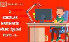 2. Sınıf Matematik -Bölme- Online Değerlendirme Testi -1-