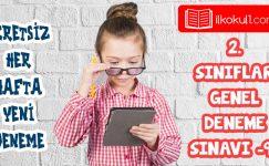 2. Sınıflar 2. Dönem 9. Online Deneme Sınavı