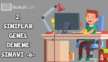2. Sınıflar 2. Dönem 6. Online Deneme Sınavı