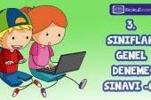 3. Sınıflar 2. Dönem 6. Online Deneme Sınavı