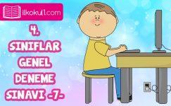4. Sınıflar 2. Dönem 7. Online Deneme Sınavı