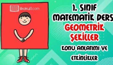 1. Sınıf Geometrik Şekiller Konu Anlatımı ve Etkinlikler