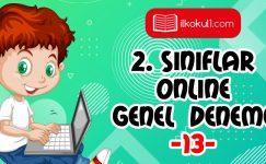2. Sınıflar 2. Dönem 13. Online Deneme Sınavı