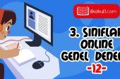 3. Sınıflar 2. Dönem 12. Online Deneme Sınavı