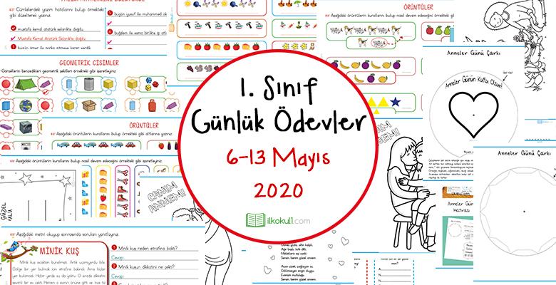1. Sınıf Günlük Ödevler (6-13 Mayıs 2020)