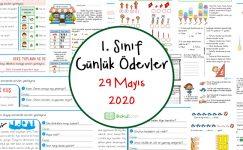 1. Sınıf Günlük Ödevler -29 Mayıs 2020-