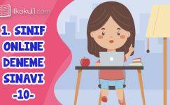 1. Sınıf Değerlendirme Sınavı -10-
