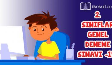 2. Sınıflar 2. Dönem 14. Online Deneme Sınavı