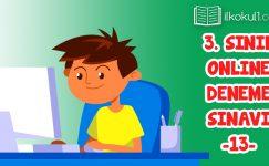 3. Sınıflar 2. Dönem 13. Online Deneme Sınavı