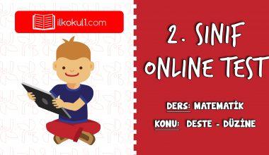 2. Sınıf Matematik -DESTE VE DÜZİNE- Online Test