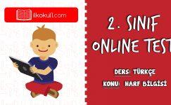 2. Sınıf Türkçe -HARF BİLGİSİ- Online Test